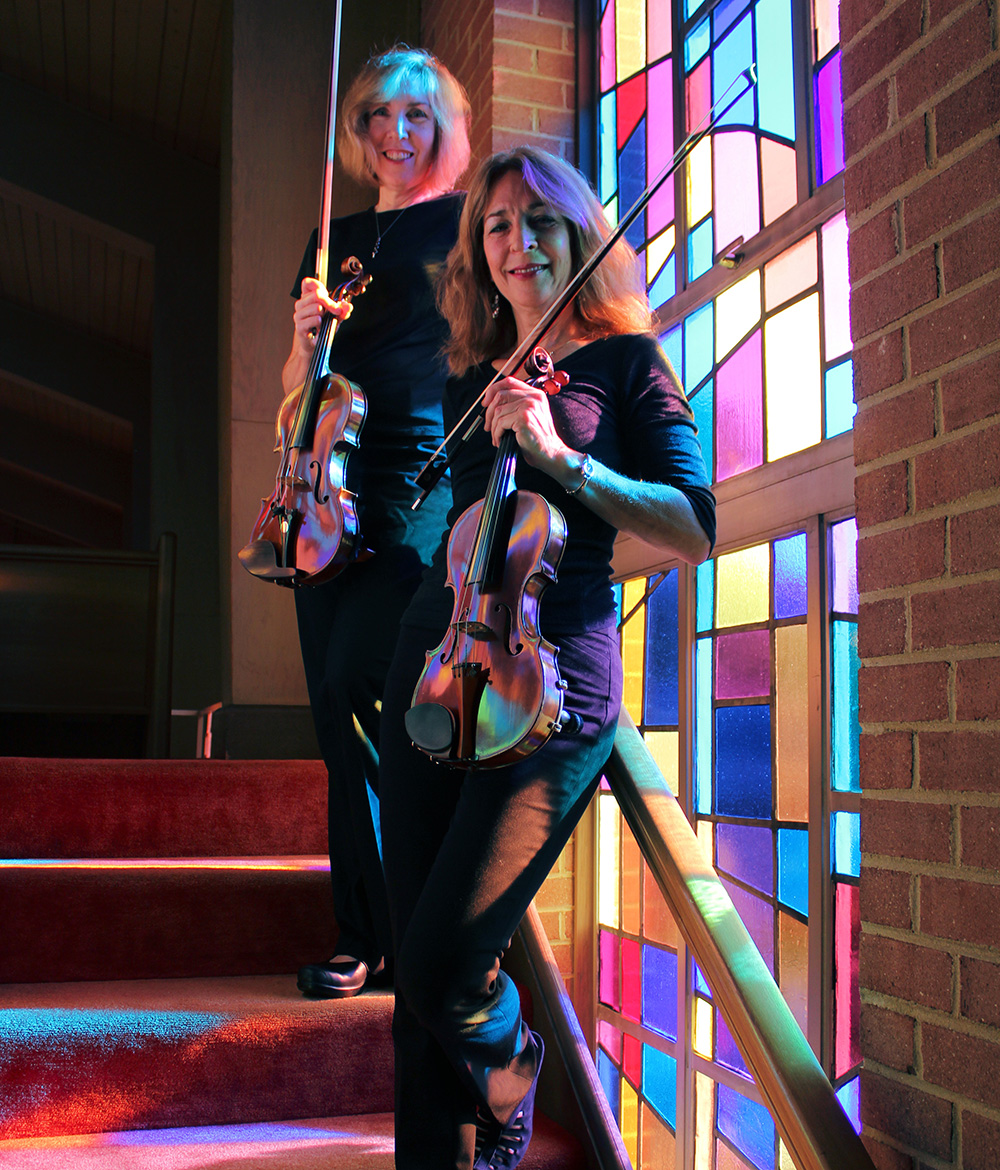 Jill Foster and Margie Heath from Jolie Deux RVA Violin Duo